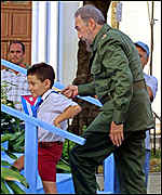 Elian Gonzalez and Fidel Castro in Cardenas