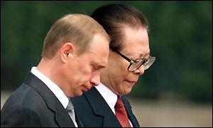 Putin y Zemin.