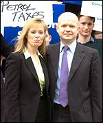 William Hague and wife Ffion