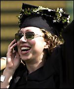 Chelsea Clinton at her graduation