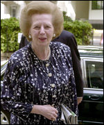 Former Tory leader Baroness Thatcher