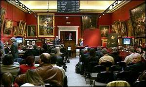 A Sotheby's auction room