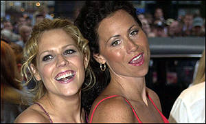 Actresses McCormack and Minnie Driver