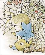 Peter Rabbit copyright Frederick Warne & Co., 1902, 2001