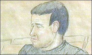 court drawing of Philip John Smith