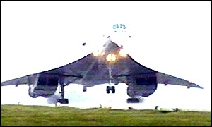 Concorde touched down at RAF Brize Norton in Oxfordshire