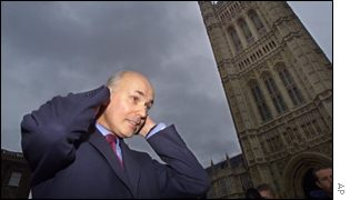 Iain Duncan Smith grooms himself after securing a place in the next round