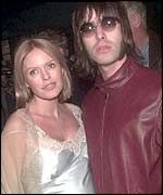 Patsy Kensit and Liam Gallagher