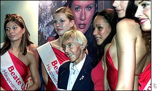 Beate Uhse pictured with models