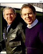 President Bush and PM Tony Blair