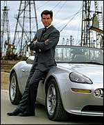 Pierce Brosnan as James Bond in The World Is Not Enough