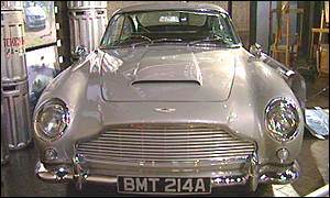 The Aston Martin DB5, which was first used in Goldfinger