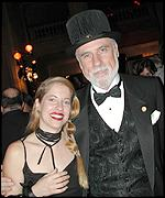 Tiffany Shlain, the founder of the Webby Awards, with Vint Cerf, one of the founders of the Internet and presenter of the first-ever Lifetime Achievement Award. Photo: Laurie Blavin