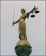 The scales of justice above the Old Bailey