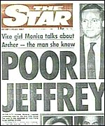 Daily Star front page from 1985