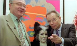 Archer with London mayor Ken Livingstone and Dick Whittington pantomime cat,
