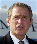 George Bush: criticised demonstrators