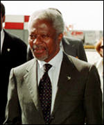 UN Secretary-General Kofi Annan is attending the summit