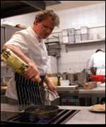 Gordon Ramsay in his kitchen
