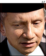 Amien Rais, the speaker of the national assembly (MPR