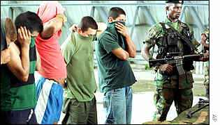 Paramilitaries under arrest in Colombia