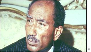 The late Egyptian President Anwar El-Sadat