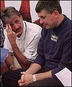 Mark Lawrenson and John Parrott