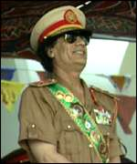 [ image: Muammar Gadhafi came to power in a bloodless coup]