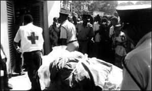 [ image: At least five people were killed by the bomb in Dar es Salaam]