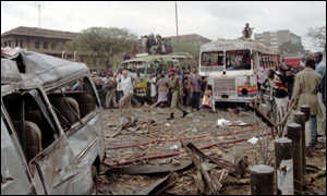 [ image: The bomb damage extended over a wide area of central Nairobi]