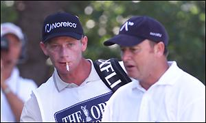 Woosnam is docked too shots after it is discovered he has 15 clubs in his bag - one more than allowed