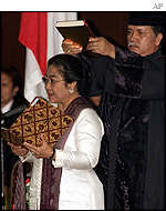 Megawati Sukarnoputri is sworn in as Indonesian president
