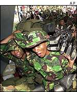 Indonesian troops heading for Aceh