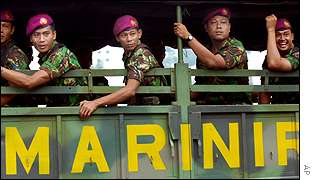 Indonesian marines