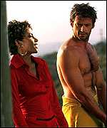 Halle Berry and Hugh Jackman