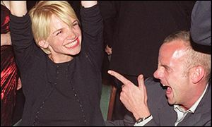 Fatboy Slim with wife and broadcaster Zoe Ball