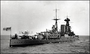 HMS Hood in her hey-day before she was shelled and sunk by the Bismarck