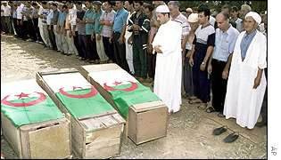 A funeral for other Algerians massacred in Ain Tagourait