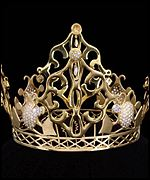 The crown worn by Victoria Beckham on her wedding day