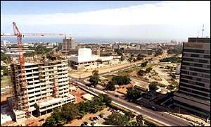 The skyline of Accra, capital of Ghana
