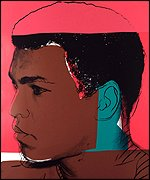 Four Warhol prints of Muhammad Ali