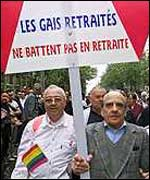 Pensioners on gay pride march
