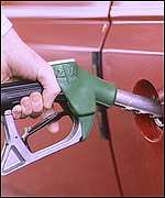 Car being filled up with petrol
