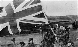 British troops on the Falklands