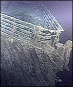 Bow of Titanic wreck
