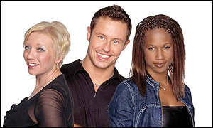 Big Brother contestant Josh and would-be contestants Anne and Natasha
