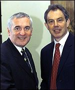 Bertie Ahern meets Tony Blair for talks