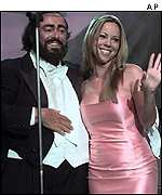 Pavarotti and Carey