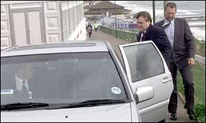 John Prescott getting into his car
