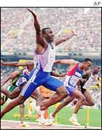 Linford Christie at the Barcelona Olympics